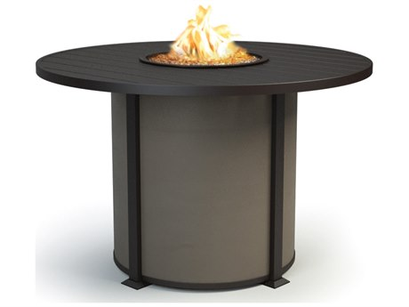 Homecrest Breeze Aluminum 54''Wide Round Counter Height Fire Pit Table
