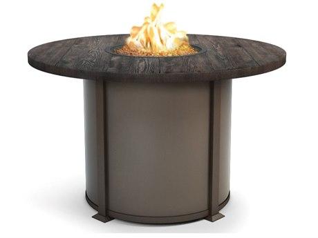 Homecrest Timber Aluminum 54 Round Balcony Fire Table