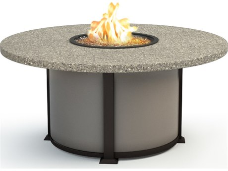Homecrest Stonegate Aluminum 54 Round Chat Fire Pit Table HC4654CSG