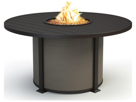 Homecrest Breeze Aluminum 54 Round Dining Height Fire Pit Table