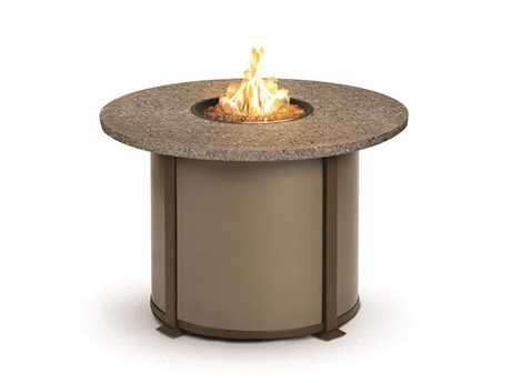 Homecrest Valero Natural Series Aluminum 54 Round Dining Fire Pit Table