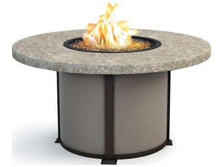 Homecrest Sandstone Aluminum 54 Round Dining Fire Pit Table