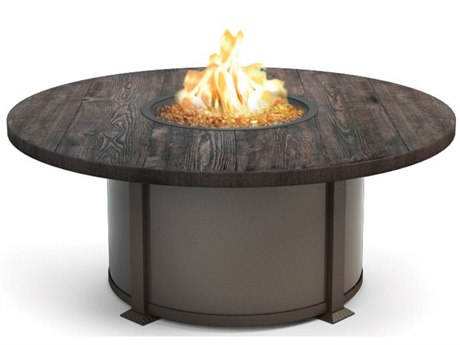 Homecrest Timber Aluminum 54 Round Coffee Fire Pit Table