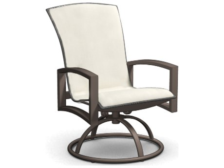 Homecrest Havenhill Sling Aluminum Arm Swivel Rocker Dining Chair