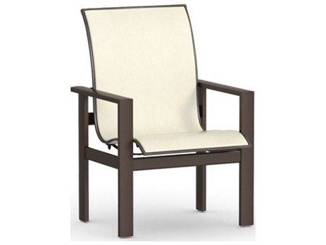 Homecrest Elements Sling Aluminum Low Back Dining Arm Chair