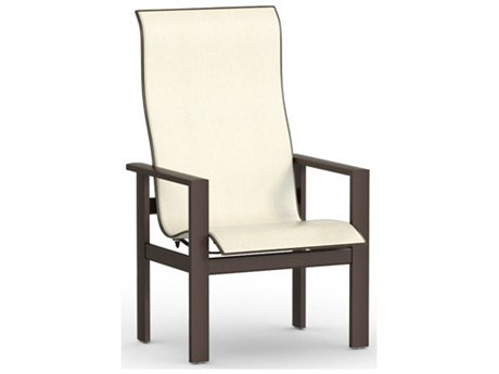 Homecrest Elements Sling Aluminum High Back Dining Arm Chair