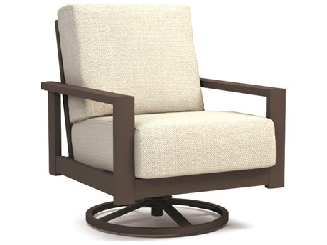 Homecrest Elements Cushion Aluminum Swivel Rocker Chat Chair