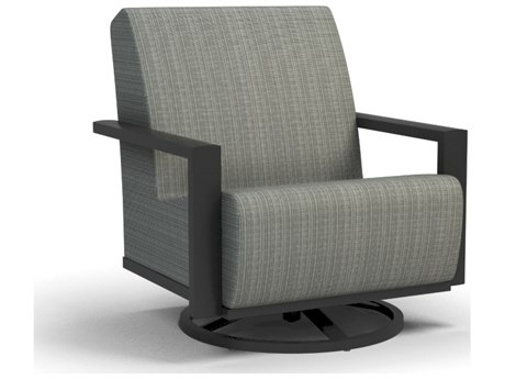 Homecrest Elements Air Aluminum Swivel Rocker Chat Chair
