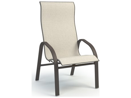 Homecrest Stella Aluminum Sling High Back Dining Arm Chair