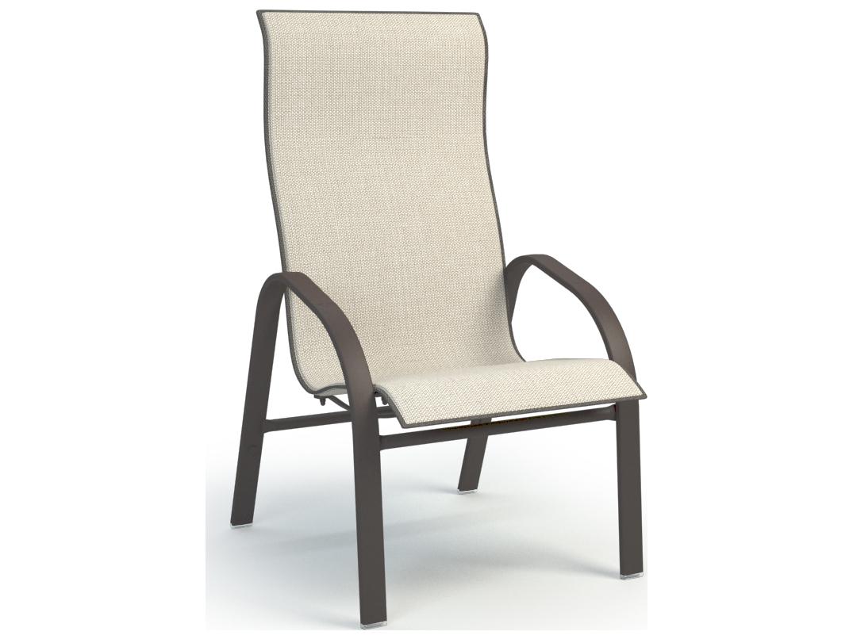 Homecrest Stella Aluminum Sling High Back Dining Chair 7a379