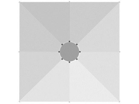Homecrest Arbor Aluminum 13' Foot Square Crank Lift Umbrella