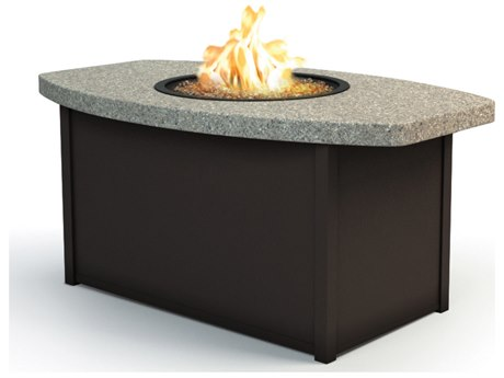 Homecrest Stonegate Aluminum 52 x 32 Chat Fire Pit Table HC893252CSG