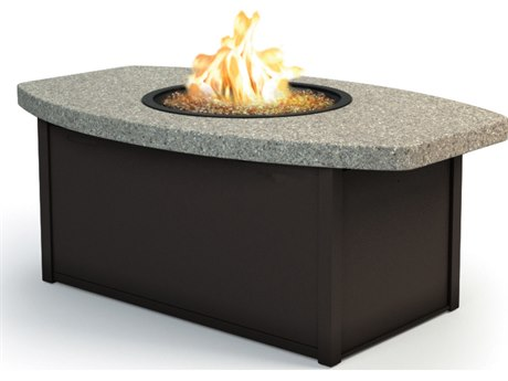 Homecrest Stonegate Aluminum 52 x 32 Eye Coffee Fire Pit Table