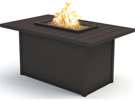 Homecrest Breeze Aluminum 52 x 32 Rectangular Chat Fire Pit HC893252XCBR