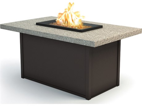 Homecrest Stonegate 52 x 32 Rectangular Chat Fire Pit Table