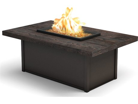 Homecrest Timber 52 x 32 Rectangular Coffee Fire Pit Table