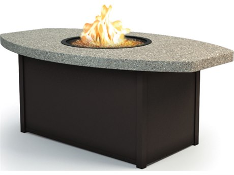 Homecrest Stonegate Aluminum 60 x 36 Eye Coffee Fire Pit Table