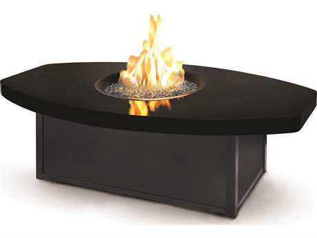 Homecrest Aurora Icon Series Aluminum 60 x 36  Eye Fire Pit Table