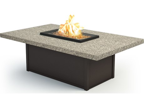 Homecrest Stonegate 60 x 36 Rectangular Coffee Fire Pit Table