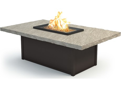 Homecrest Slate Aluminum 60 X 36 Rectangular Coffee Fire Pit Table