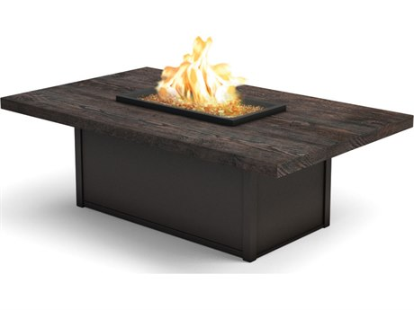 Homecrest Timber 60 x 36 Rectangular Coffee Fire Pit Table