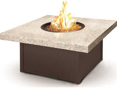 Homecrest Aurora Icon Series Aluminum 42 Square Fire Pit Table