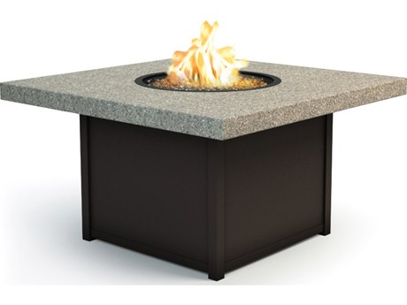 Homecrest Stonegate 42 Square Chat Fire Pit Table Stonegate Top