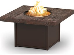 Homecrest Timber Aluminum 42''Wide Square Chat Fire Pit Table