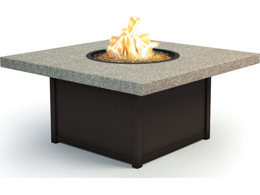 Homecrest Stonegate 42 Square Coffee Fire Pit Table 8942SLSG