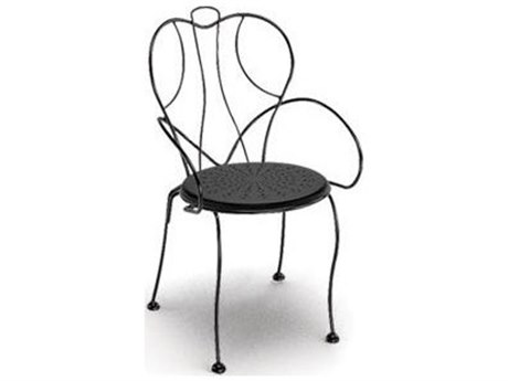 Homecrest Espresso Steel Arm Stackable Dining Chair Replacement Cushions