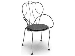 Espresso Steel Arm Stackable Dining Chair Replacement Cushions Replacement Cushions