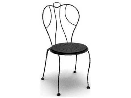 Homecrest Espresso Steel Side Stackable Dining Chair