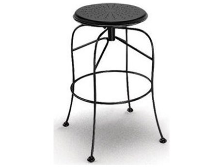 Homecrest Espresso Steel Side Swivel Bar Stool