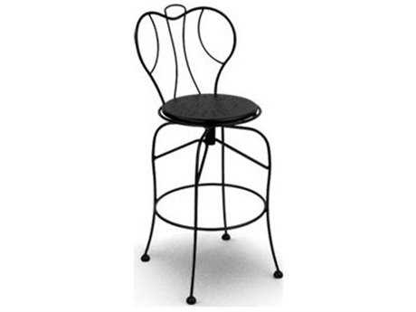 Homecrest Espresso Steel Side Swivel Bar Stool With Starburst Seat