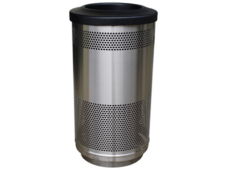 Homecrest Stainless Steel 35 Gallon Trash Receptacle