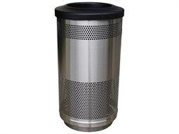 Steel 35 Gallon Trash Receptacle