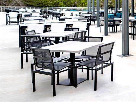 Homecrest Allure Mesh Aluminum Dining Set