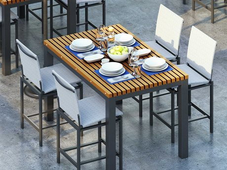 Homecrest Allure Sling Aluminum Bar Dining Set