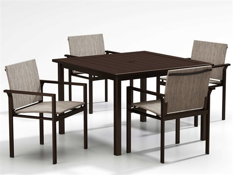 Homecrest Allure Sling Aluminum Dining Set