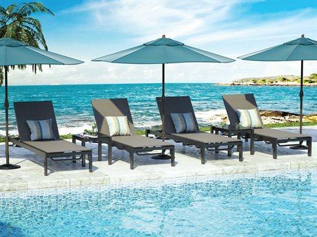 Homecrest Allure Sling Aluminum Lounge Set