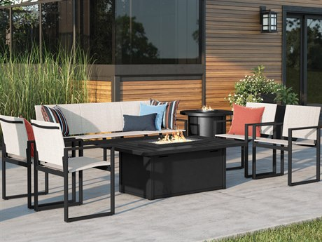 Homecrest Allure Aluminum Fire Pit Lounge Set