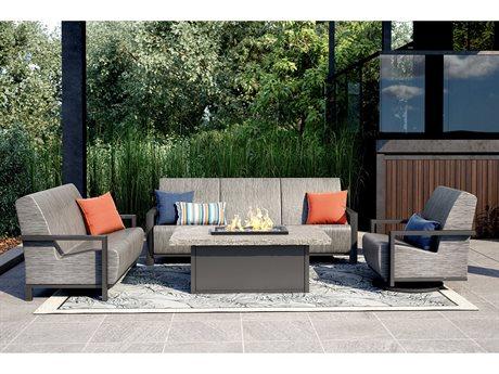 Homecrest Elements Air Aluminum Firepit Lounge Set