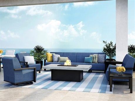 Homecrest Elements Air Aluminum Fire Pit Lounge Set