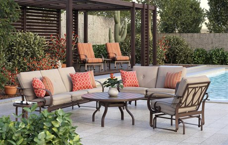 Homecrest Emory Aluminum Lounge Set