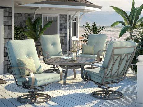 Homecrest Emory Cushion Aluminum Lounge Set