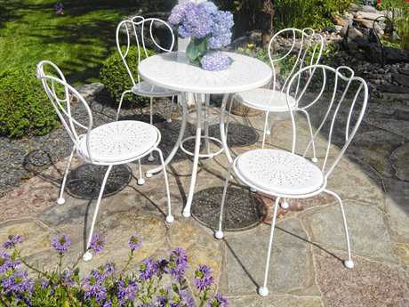 Homecrest Espresso Steel Bistro Dining Set