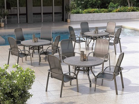 Homecrest Florida Mesh Aluminum Dining Set