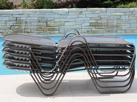 Homecrest Florida Mesh Aluminum Stackable Chaise Lounge Set
