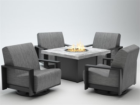 Homecrest Grace Air Aluminum Fire Pit Lounge Set