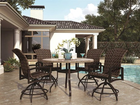 Homecrest Havenhill Wicker Aluminum Counter Dining Set HCHAVDINSET